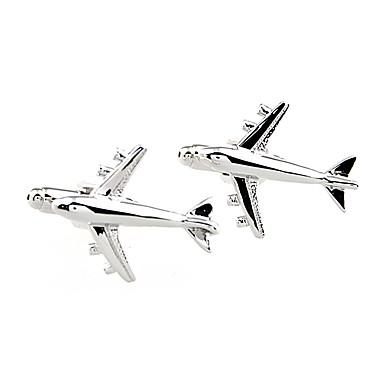 Samolot Silver Manžetové knoflíčky Mosiądz Odpoczynek Ślub Codzienny Męskie Biżuteria kostiumowa