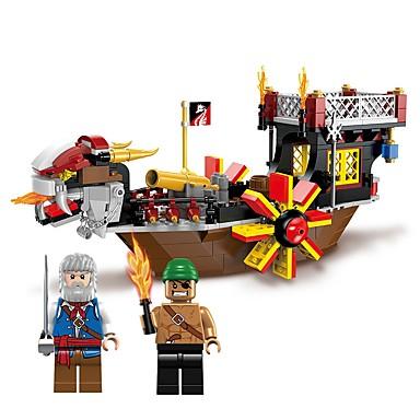 hesapli Oyuncaklar ve Oyunlar-ENLIGHTEN Legolar 345 pcs Korsan Kumsal Teması Denizle İlgili Gemi uyumlu Legoing Non Toxic Bot Genç Erkek Oyuncaklar Hediye