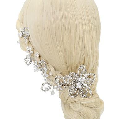 Kryształ / Sztuczna perła / Kryształ górski Opaski na głowę z 1 szt. Ślub / Specjalne okazje Winieta