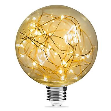 abordables Ampoules électriques-1pc 3 W Ampoules à Filament LED 200 lm E26 / E27 G95 33 Perles LED SMD Décorative Étoilé Décoration de mariage de Noël Blanc Chaud 85-265 V / RoHs