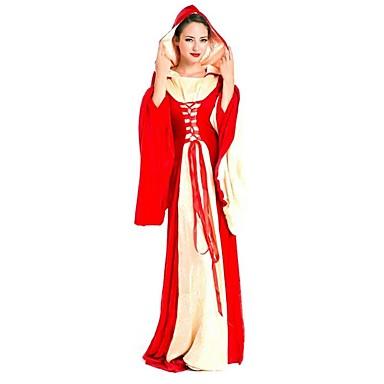 Typ queen Sukienki Damskie Halloween Festiwal/Święto Kostiumy na Halloween Czerwony Jendolity kolor