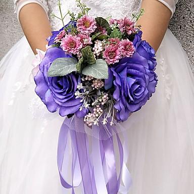 Kwiaty ślubne Bukiety Ślub Party / Wieczór Inny materiał Poliester 11,8