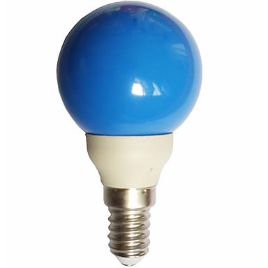 billige Elpærer-1pc 0.5 W LED-globepærer 15-25 lm E14 G45 7 LED perler Dyp Led Dekorativ Blå 100-240 V / RoHs