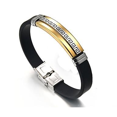 voordelige Herensieraden-Heren Schakelarmband Knoop Aziatisch Etnisch Modieus Roestvast staal Armband sieraden Goud / Zilver Voor Dagelijks Formeel / Leder