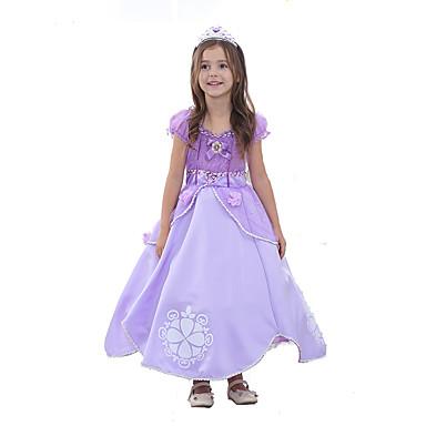 Princess Sofia Dress Kid\'s Ball Gown Slip Cartoon Halloween Festival ...