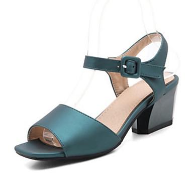 Nouveauté Gris Printemps pour 06425368 Sandales Talon Cuir Chaussures Eté Bout Rouge Paillette Femme Nubuck Bottier ouvert Habillé Confort Boucle HAYw6q