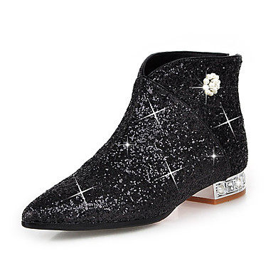 7d29438add9 Women s Shoes Sparkling Glitter   Paillette   Synthetic Fall   Winter  Fashion Boots   Bootie Boots Crystal Heel Pointed Toe Booties