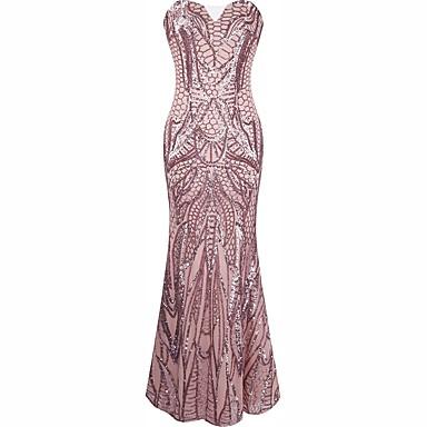 Wielki Gatsby Sexy Uniformy Lata 20. Kostium Damskie Sukienki Sukienka koktajlowa Bal maskowy Kostium imprezowy Różowy Postarzane Cosplay