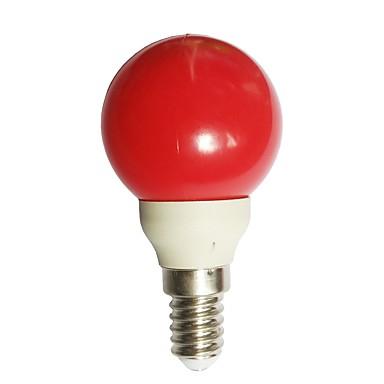 1 szt. 0.5 W 15-25 lm E14 Żarówki LED kulki G45 7 Koraliki LED Dip LED Dekoracyjna Czerwony 100-240 V / ROHS