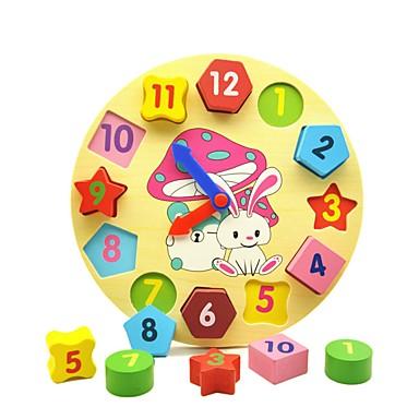 Drewniana zabawka zegarowa Zabawka edukacyjna Zabawki Geometric Shape Edukacja drewniany Dla dzieci Sztuk