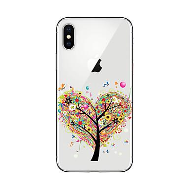 Etui Käyttötarkoitus Apple iPhone X iPhone 8 Plus iPhone 7 iPhone 6 iPhone 5 kotelo Läpinäkyvä Kuvio Takakuori Puu Pehmeä TPU varten