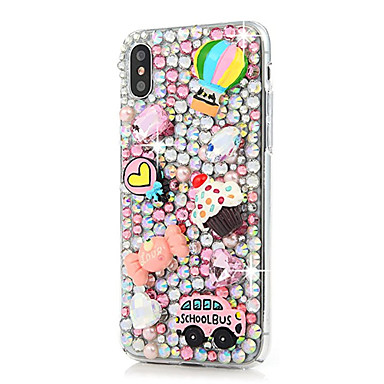 666a3d3c3 Case For Apple iPhone X   iPhone 8 Plus Rhinestone Back Cover Glitter Shine  Hard Silicone