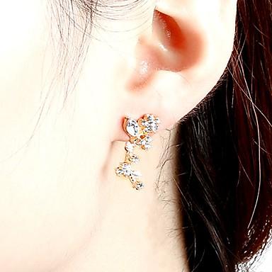 Damskie Kolczyki na sztyft Rhinestone Vintage Modny Słodkie Stop Leaf Shape Geometric Shape Biżuteria Gold Silver Impreza Codzienny