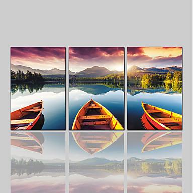 billige Trykk-Trykk Valset lerretskunst Moderne Klassisk Rustikk Tre Paneler Kunsttrykk