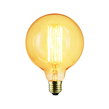 1pç 40 W E26 / E27 G125 Incandescente Vintage Edison Light Bulb 220-240 V