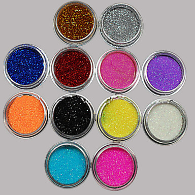 36 pcs Glitter & Poudre / Acrylic Powder / Sequins Flower / Abstract / Classic Lovely Daily