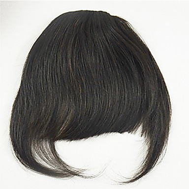 voordelige Haar Stukken-Zwart Medium bruin Pony Rand Dik 0.25kg Remy Haar stuk Haarextensies Dik