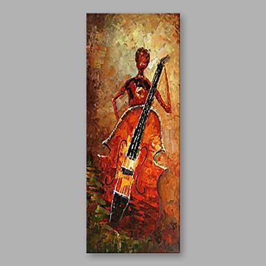 Ręcznie malowane Ludzie Pionowy, Nowoczesny Brezentowy Hang-Malowane obraz olejny Dekoracja domowa Jeden panel