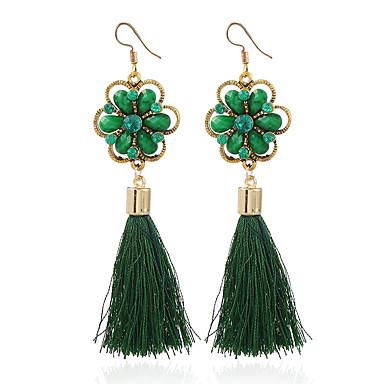 Damskie Kolczyki wiszące , Na co dzień Modny Żywica Stop Geometric Shape Biżuteria Black Fuchsia Czerwony Green Niebieski Codzienny