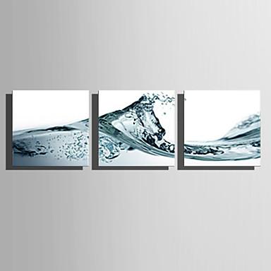 Lærredstryk på blindramme Art Moderne Wave Sæt af 3