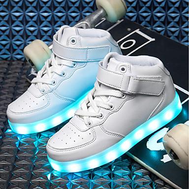 Dla chłopców Obuwie PU Jesień / Zima Lekkie podeszwy / Świecące buty Adidasy LED na Czarny / Niebieski / Różowy