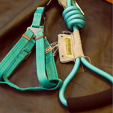 כלב ידיים רצועה חינם בטיחות אחיד ניילון כחול / ברונזה / כחול בהיר
