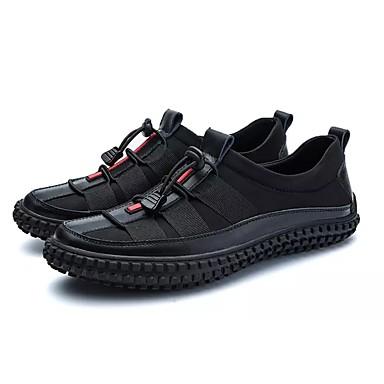 בגדי ריקוד גברים PU אביב / סתיו נוחות נעלי ספורט שחור / כסף