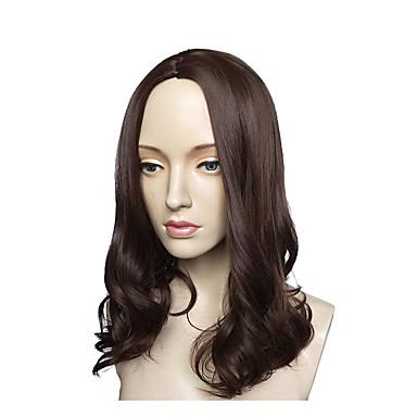 פאות סינתטיות Water Wave תספורת שכבות שיער סינטטי שיער טבעי שחור פאה ארוך ללא מכסה