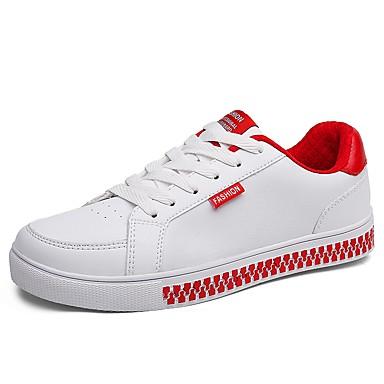 בגדי ריקוד גברים נעליים גומי אביב / סתיו נוחות נעלי ספורט אדום / שחור לבן / לבן וירוק