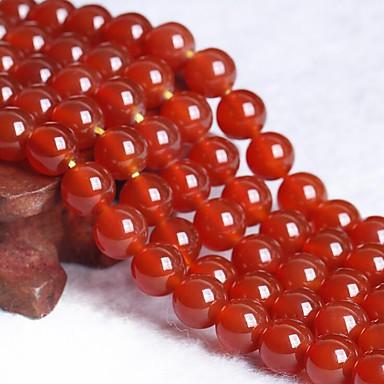 תכשיטים DIY 50 יח חרוזים קריסטל אדום עגול חָרוּז 0.8 cm עשה זאת בעצמך שרשראות צמידים