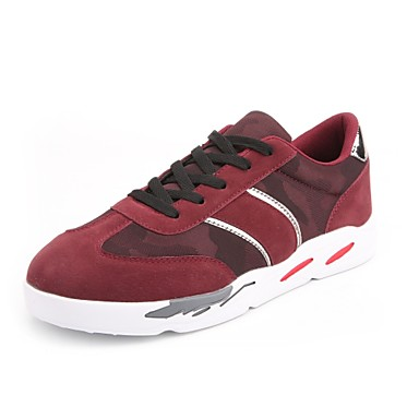 בגדי ריקוד גברים Fashion Boots עור נובוק / דמוי עור / PU אביב נוחות נעלי ספורט קולור בלוק שחור / אפור / בורדו
