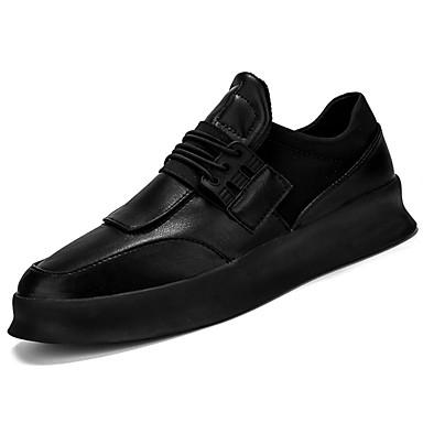 נעליים PU אביב סתיו נעליים זוהרות נוחות נעלי ספורט ל קזו'אל לבן שחור