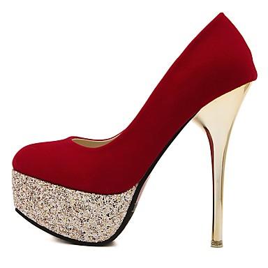 Chaussures Paillette Aiguille Basique Bout Automne Femme rond Talon à Printemps Similicuir Escarpin Chaussures Talons 06473886 Brillante 8qRAF