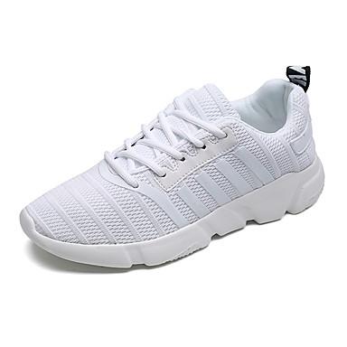 בגדי ריקוד גברים טול אביב / סתיו נוחות נעלי אתלטיקה לבן / שחור / אפור