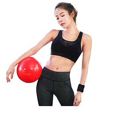 רצועות חזיות ספורט מרופד תמיכה קלה עבור יוגה - לבן / שחור עמיד, ייבוש מהיר, נשימה בגדי ריקוד נשים כותנה, רשת