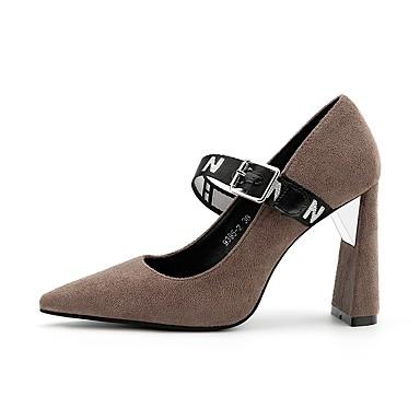 Mujer Zapatos Semicuero Verano / Otoño Confort Sandalias Tacón Stiletto Dedo Puntiagudo Hebilla Rojo / Rosa / Almendra / Fiesta y Noche Liquidation Usine masOJbi
