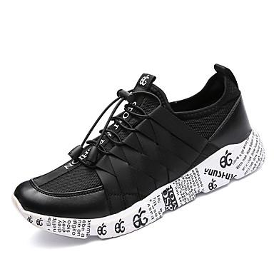 בגדי ריקוד גברים נעליים PU אביב / סתיו נוחות נעלי אתלטיקה הליכה זהב / שחור וזהב / שחור לבן