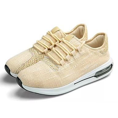 Men's Tulle / PU(Polyurethane) Athletic Spring / Fall Comfort Athletic PU(Polyurethane) Shoes Running Shoes Black / Beige / Blue e2d5c3