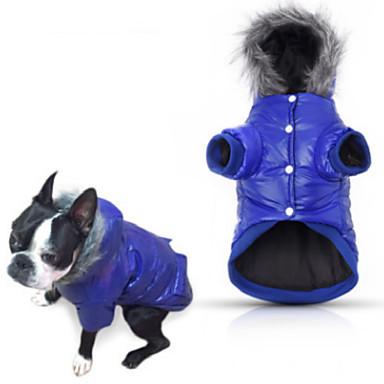 Cachorro Casacos Camisola com Capuz Pijamas Jaquetas de Penas Roupas para Cães Casual Sólido Cinzento Roxo Azul Rosa claro Ocasiões