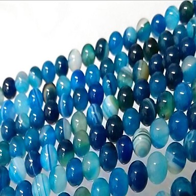 תכשיטים DIY 46 יח חרוזים ברקת כחול עגול חָרוּז 0.8 cm עשה זאת בעצמך שרשראות צמידים