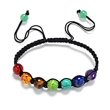 voordelige Armband-Heren Dames Onyx Synthetische Tanzaniet Synthetische Sapphire Kralenarmband Klassiek Bohémien Zoet Henneptouw Armband sieraden Zwart Voor Dagelijks Straat / Synthetische Ruby / Synthetische Opaal