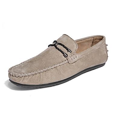 בגדי ריקוד גברים נעליים PU אביב / סתיו נוחות נעליים ללא שרוכים שחור / אפור / חאקי