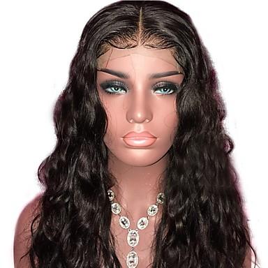 povoljno Perike i ekstenzije-Ljudska kosa Perika s prednjom čipkom bez ljepila Lace Front Perika stil Brazilska kosa Prirodne kovrče Water Wave Perika 130% Gustoća kose Prirodna linija za kosu 100% Djevica neprerađenih Žene