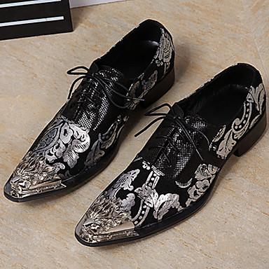 בגדי ריקוד גברים נעליים פורמליות עור נאפה Leather אביב / סתיו וינטאג' / סגנון סיני נעלי אוקספורד שחור / מסיבה וערב / מסיבה וערב / נעלי נוחות