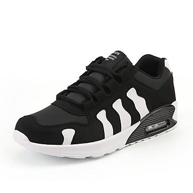 נעלי נוחות PU אביב / סתיו נעלי אתלטיקה ריצה שחור לבן / שחור אדום
