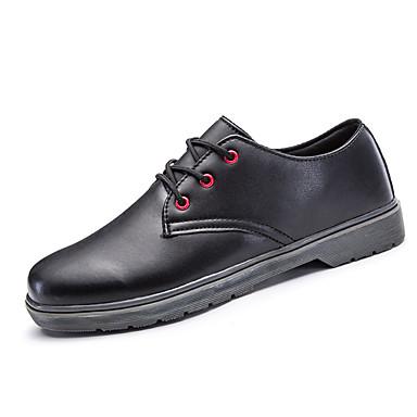 בגדי ריקוד גברים נעלי נוחות PU אביב / סתיו נעלי אוקספורד לבן / שחור / אפור / בָּחוּץ