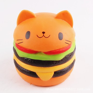 LT.Squishies צעצוע מעיכה מזון ומשקאות / חתול / המבורגר Office צעצועים במשרד / הפגת מתחים וחרדה / צעצועים לחץ לחץ דם יוניסקס מתנות