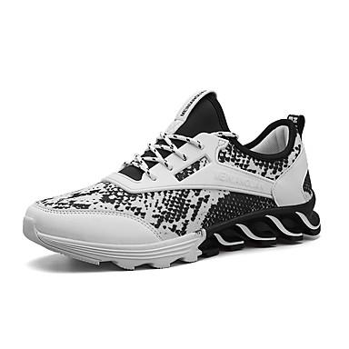 בגדי ריקוד גברים נעליים קנבס אביב / סתיו נוחות נעלי אתלטיקה כדורסל לבן / שחור / אדום