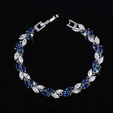 05e0279c72c Mulheres Diamante sintético Pulseira Prata Chapeada Pulseiras Jóias Verde    Azul   Rosa claro Para Casamento
