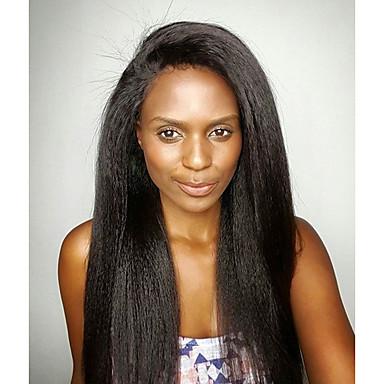 לא מעובד ללא דבק, תחרה מלאה פאה שיער ברזיאלי Kinky Straight פאה 130% צפיפות שיער שיער טבעי פאה אפרו-אמריקאית בתולה100% בגדי ריקוד נשים ארוך פיאות תחרה משיער אנושי Doubleleafwig